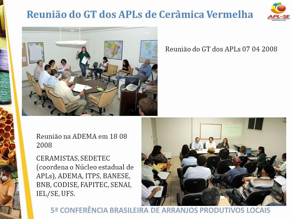 Reunião do GT dos APLs de Cerâmica Vermelha