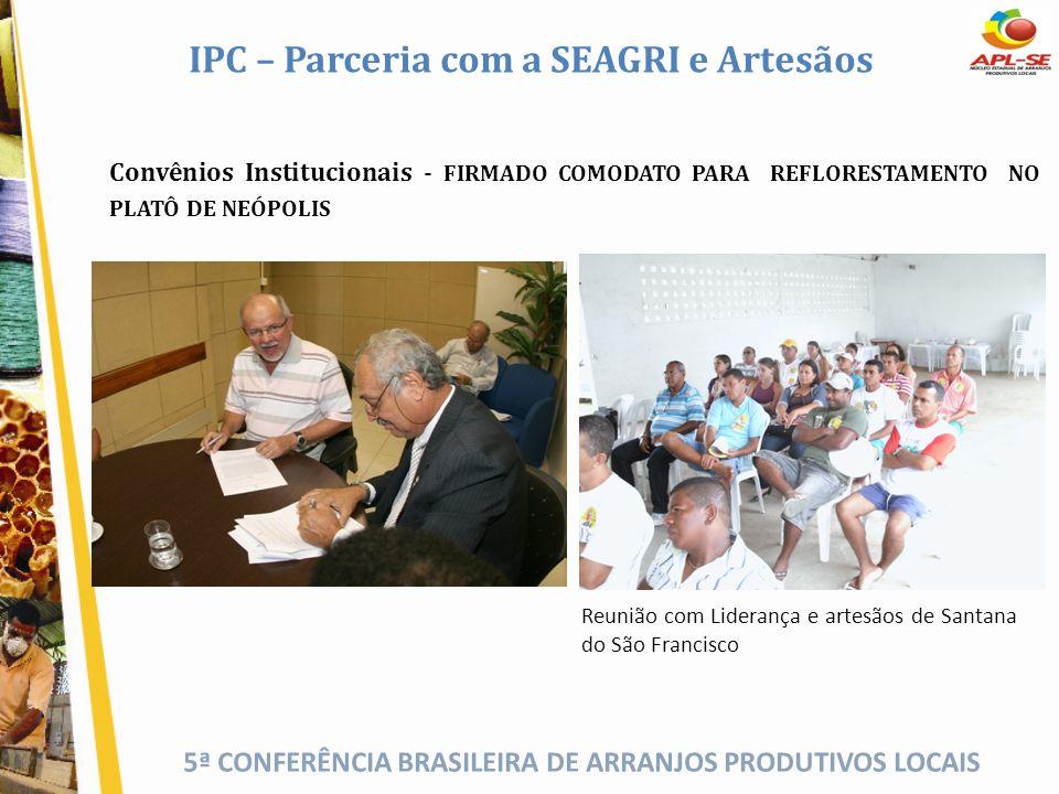 IPC – Parceria com a SEAGRI e Artesãos