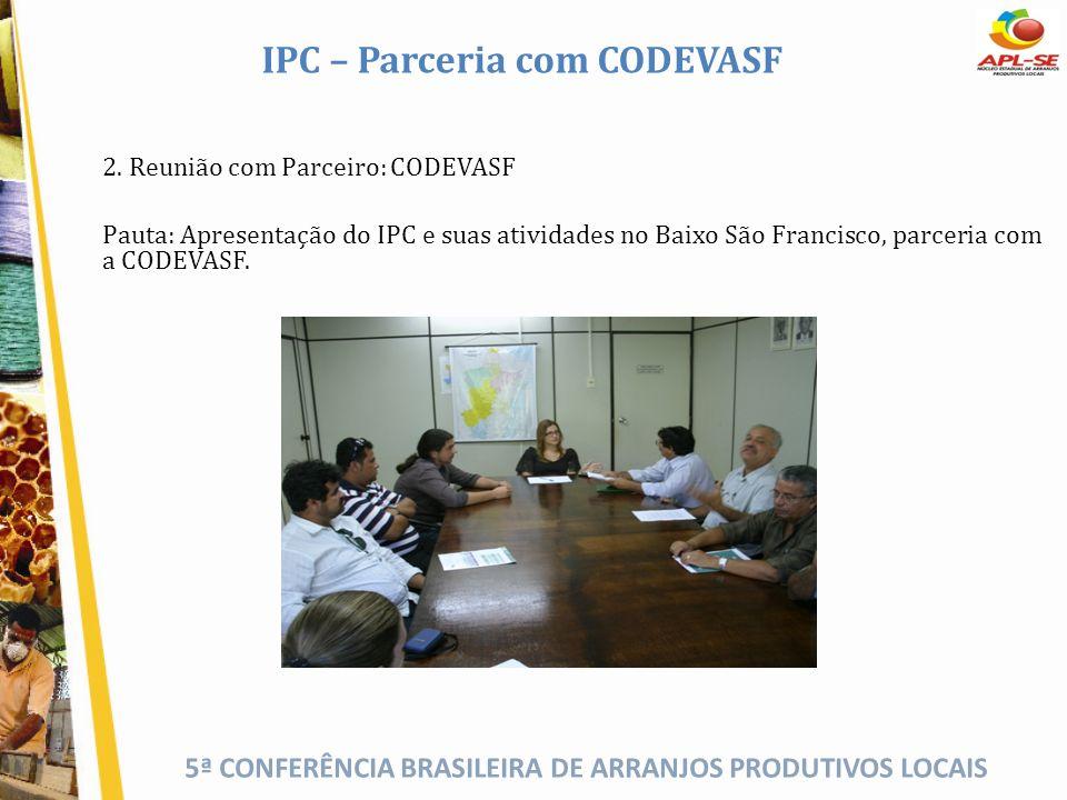 IPC – Parceria com CODEVASF