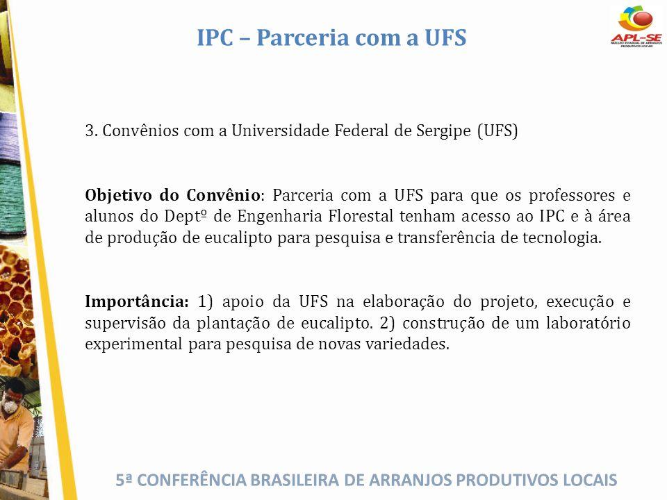 IPC – Parceria com a UFS 3. Convênios com a Universidade Federal de Sergipe (UFS)