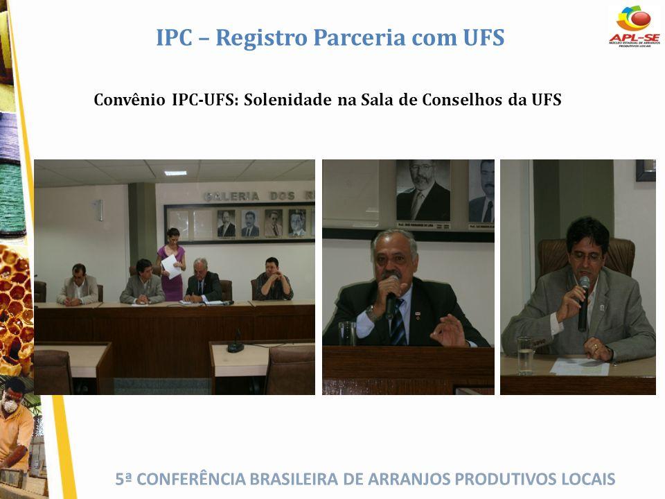 IPC – Registro Parceria com UFS