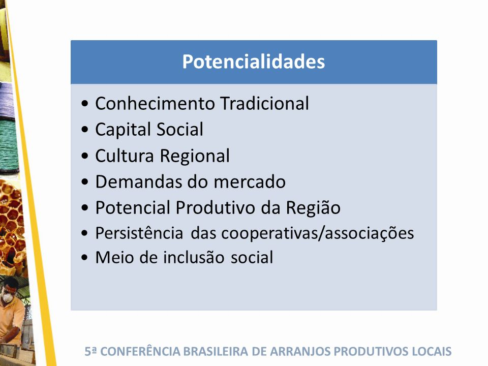Potencialidades Conhecimento Tradicional Capital Social
