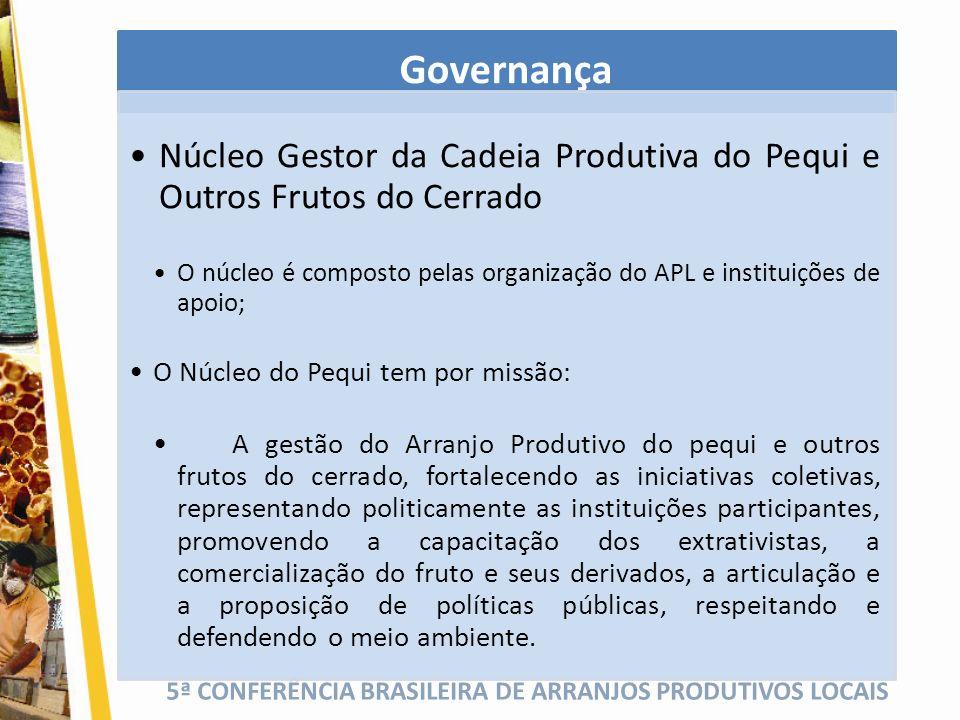 Governança Núcleo Gestor da Cadeia Produtiva do Pequi e Outros Frutos do Cerrado.