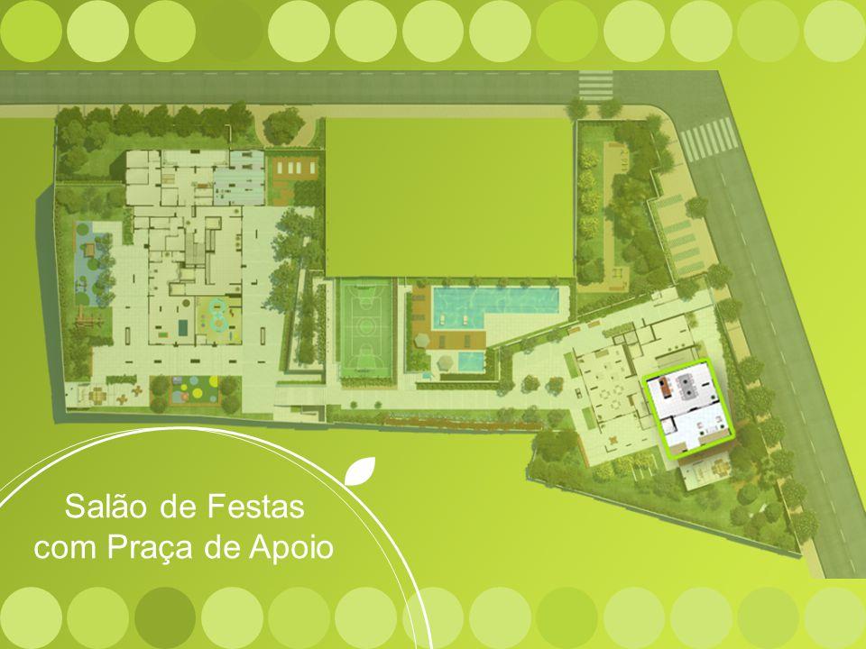 Salão de Festas com Praça de Apoio