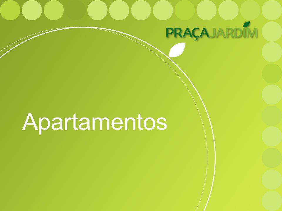 Apartamentos O projeto do Praça Jardim oferece 3 metragens de apartamento