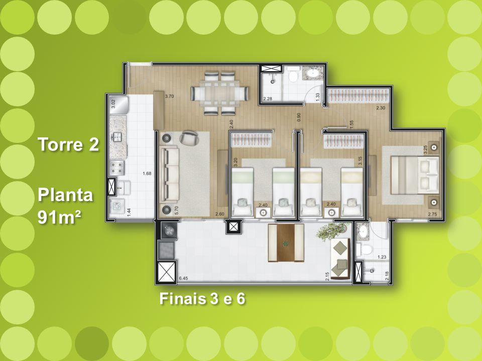 Torre 2 Planta 91m² Finais 3 e 6