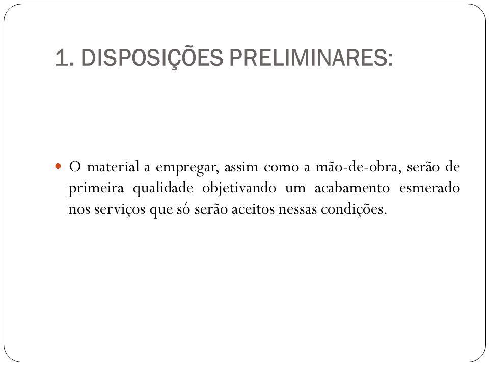 1. DISPOSIÇÕES PRELIMINARES: