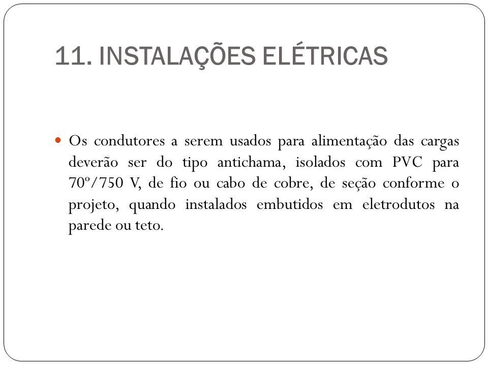 11. INSTALAÇÕES ELÉTRICAS