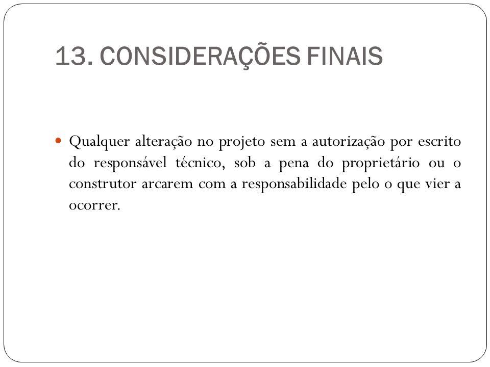 13. CONSIDERAÇÕES FINAIS