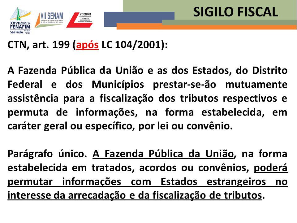SIGILO FISCAL CTN, art. 199 (após LC 104/2001):