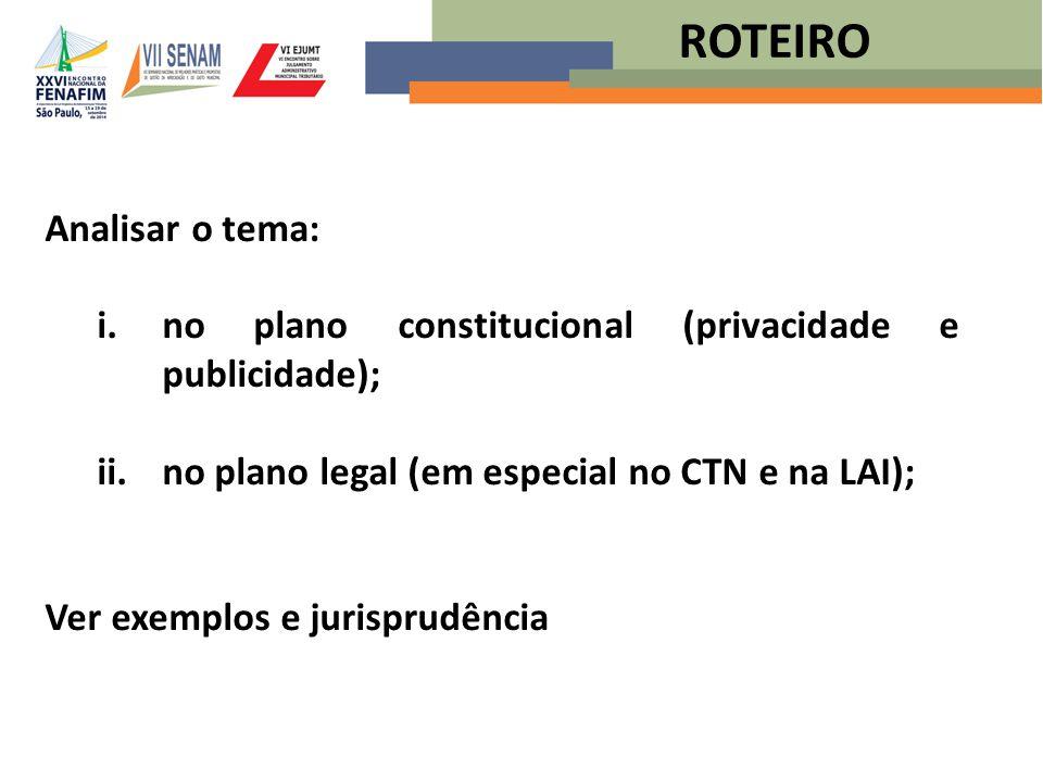 ROTEIRO Analisar o tema: