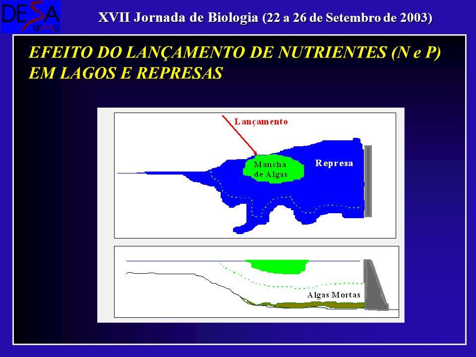 EFEITO DO LANÇAMENTO DE NUTRIENTES (N e P) EM LAGOS E REPRESAS