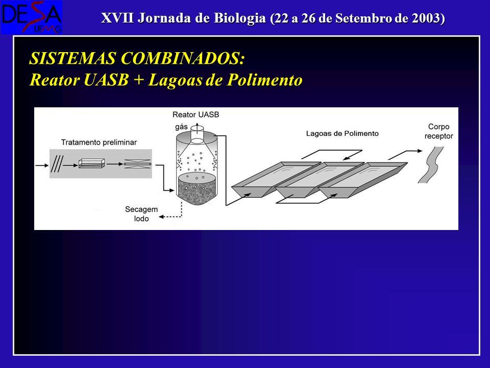 Reator UASB + Lagoas de Polimento