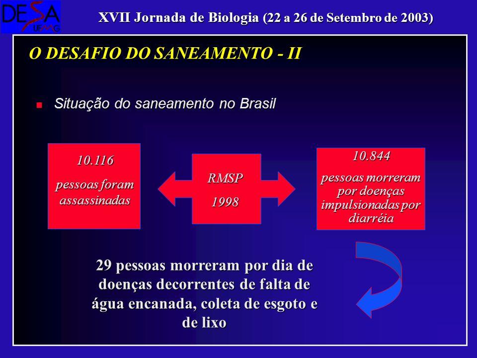 O DESAFIO DO SANEAMENTO - II