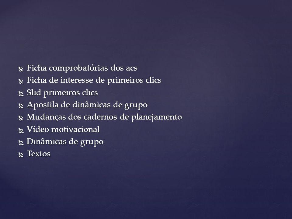 Ficha comprobatórias dos acs