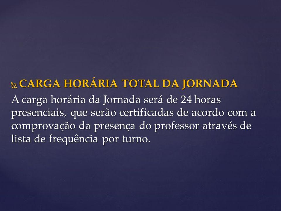 CARGA HORÁRIA TOTAL DA JORNADA