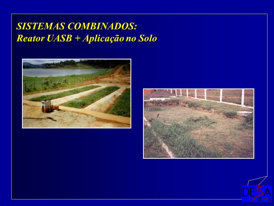SISTEMAS COMBINADOS: Reator UASB + Aplicação no Solo