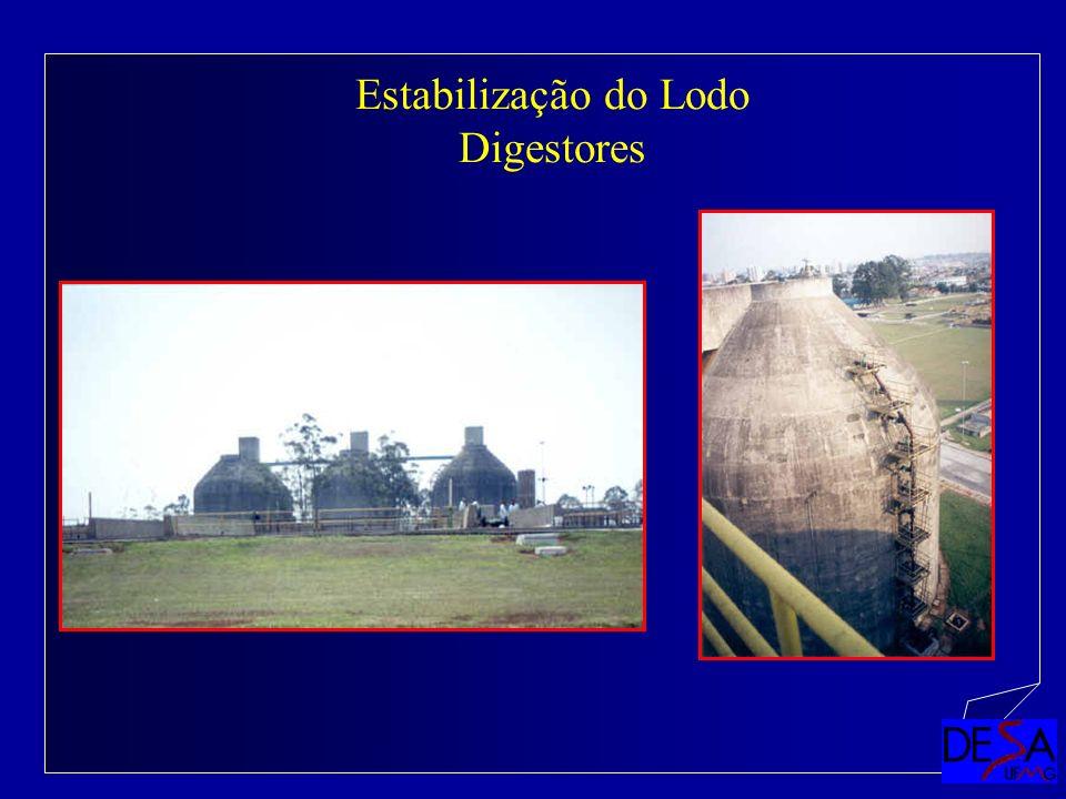 Estabilização do Lodo Digestores
