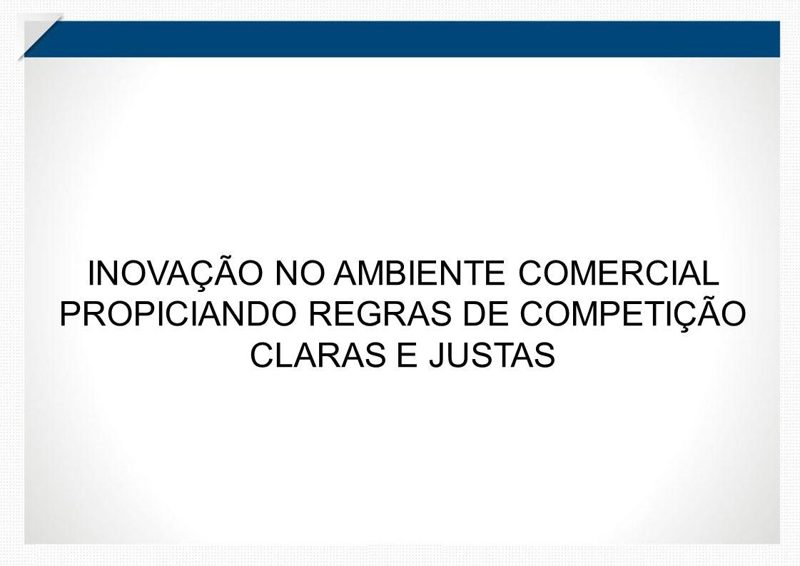 INOVAÇÃO NO AMBIENTE COMERCIAL PROPICIANDO REGRAS DE COMPETIÇÃO CLARAS E JUSTAS