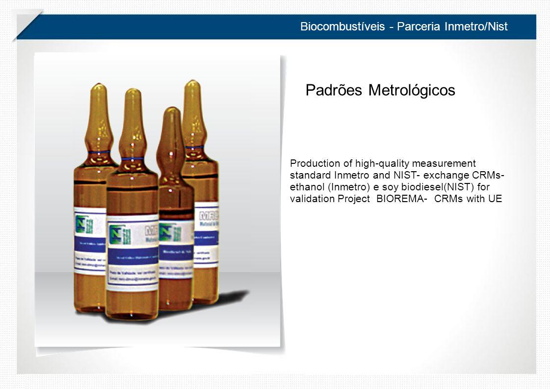 Padrões Metrológicos Biocombustíveis - Parceria Inmetro/Nist