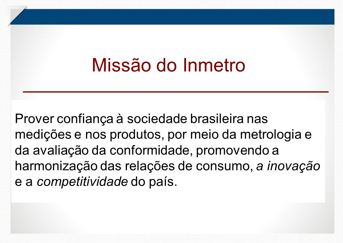 Missão do Inmetro