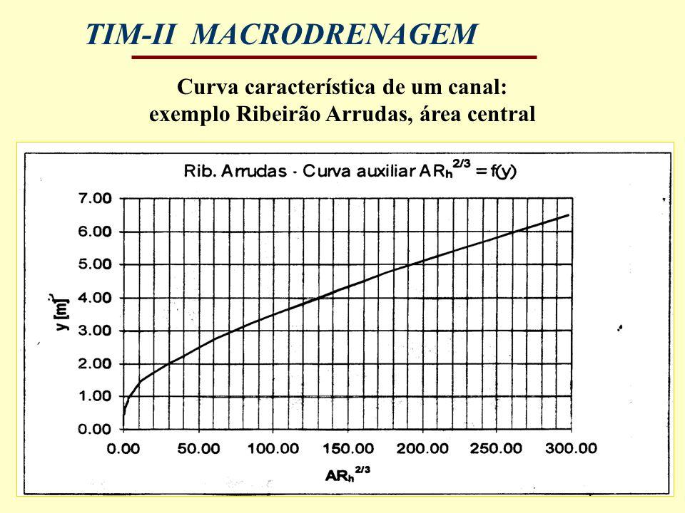 Curva característica de um canal: exemplo Ribeirão Arrudas, área central