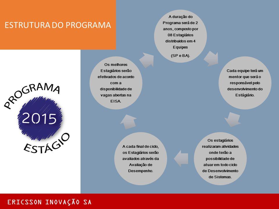 ESTRUTURA DO PROGRAMA ERICSSON INOVAÇÃO SA