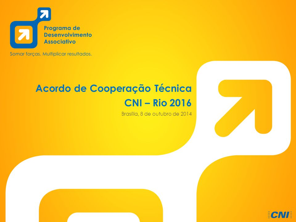Acordo de Cooperação Técnica CNI – Rio 2016