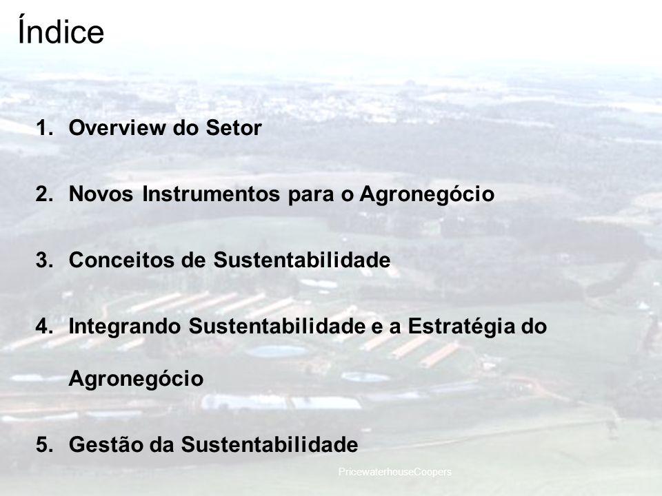 Índice Overview do Setor Novos Instrumentos para o Agronegócio
