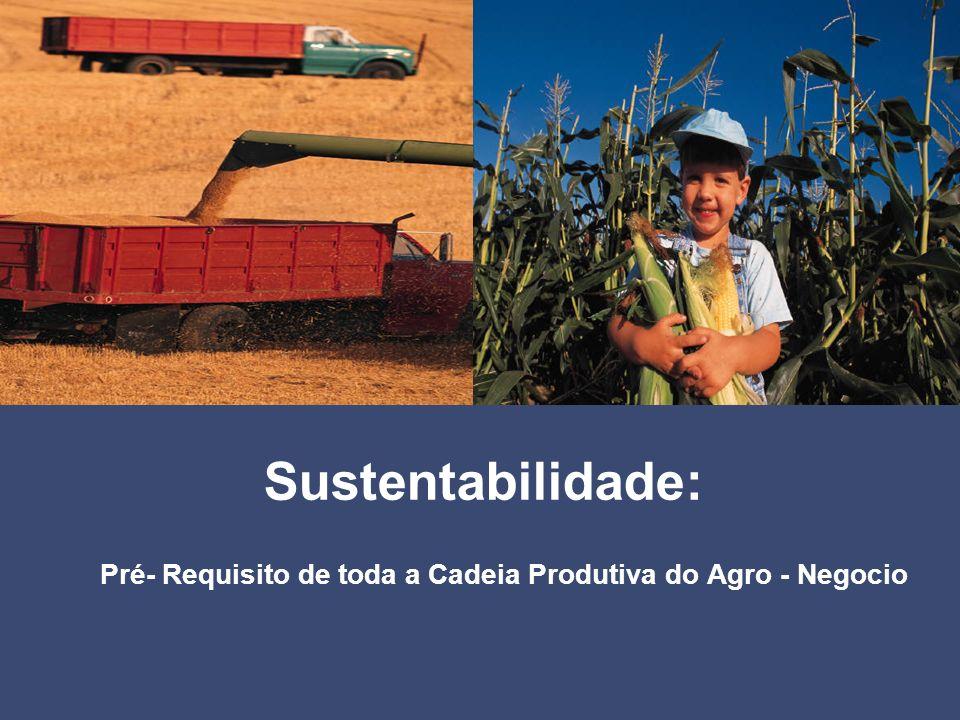 Pré- Requisito de toda a Cadeia Produtiva do Agro - Negocio