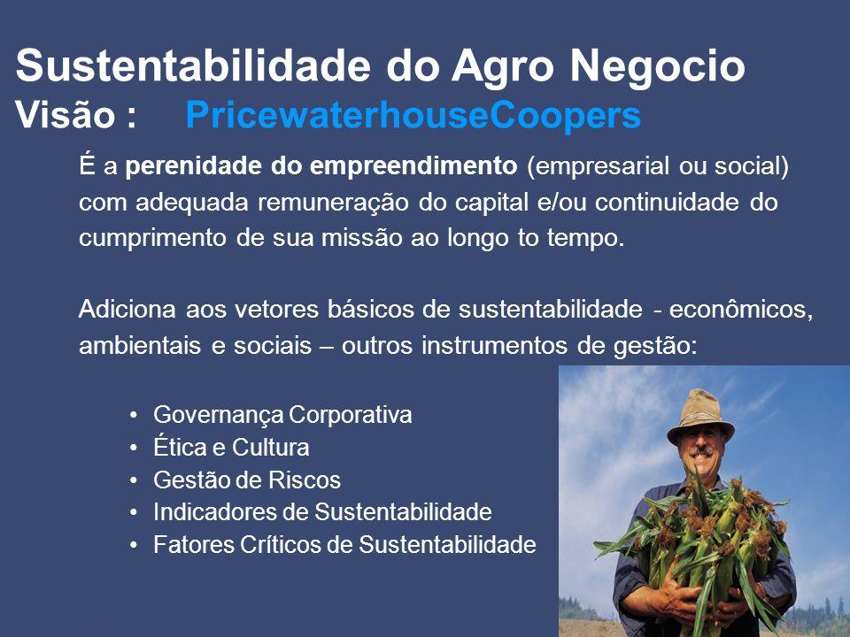 Sustentabilidade do Agro Negocio Visão : PricewaterhouseCoopers