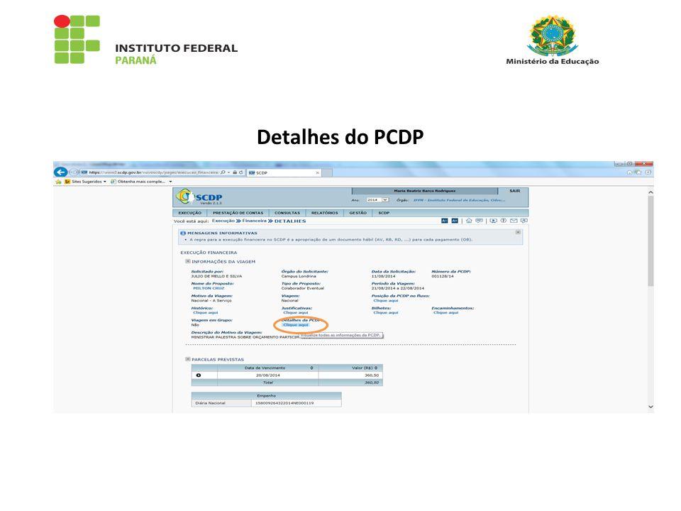 Detalhes do PCDP