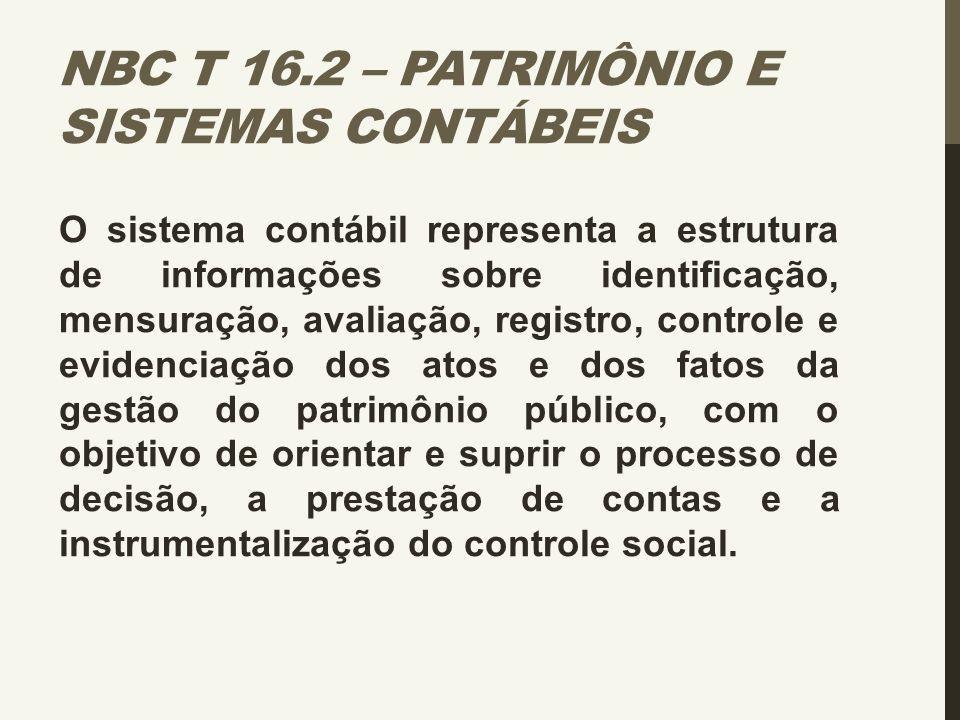 NBC T 16.2 – Patrimônio e Sistemas Contábeis