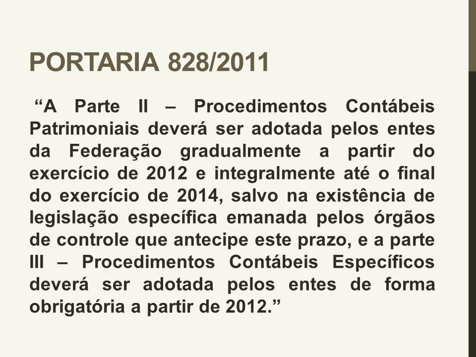 PORTARIA 828/2011