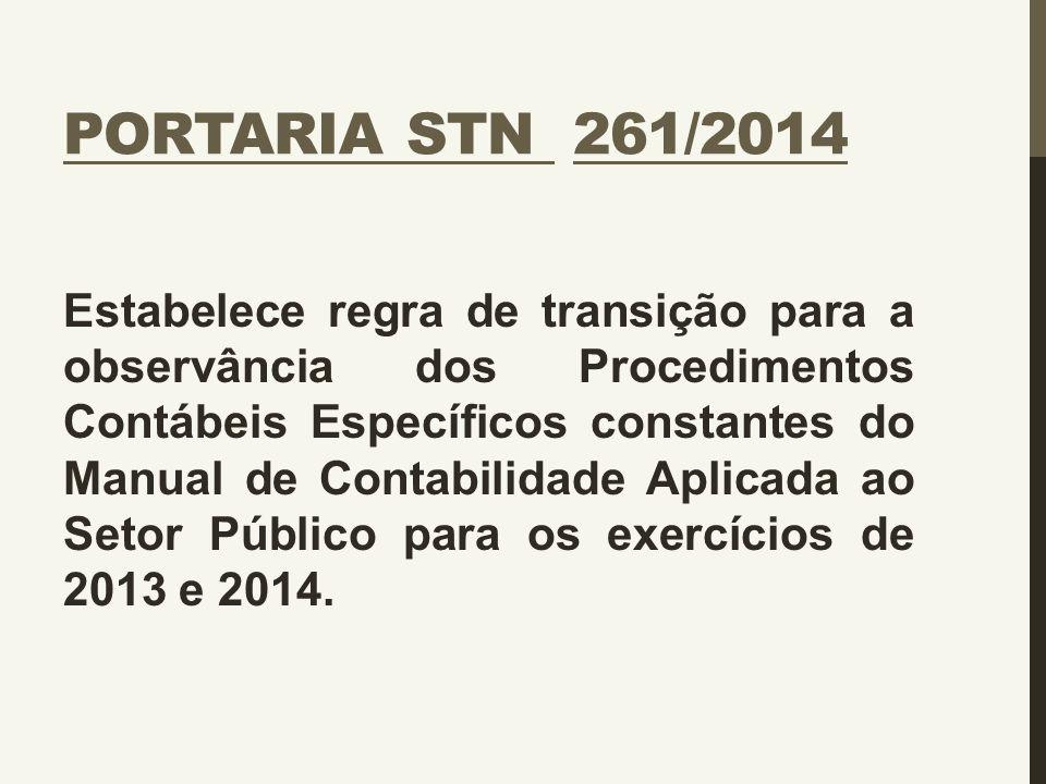 Portaria STN 261/2014