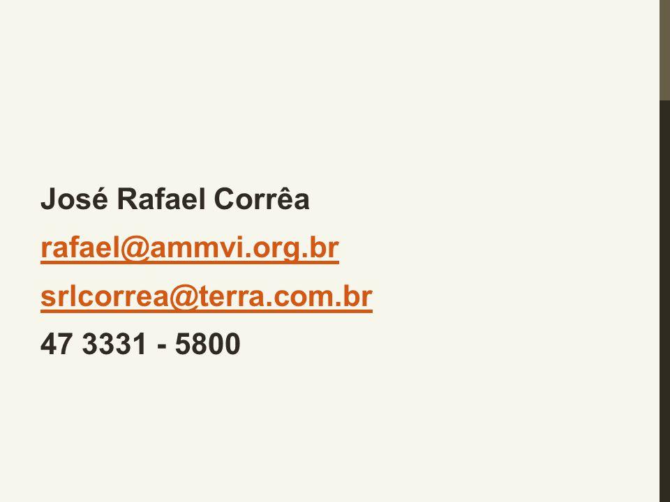 José Rafael Corrêa rafael@ammvi. org. br srlcorrea@terra. com