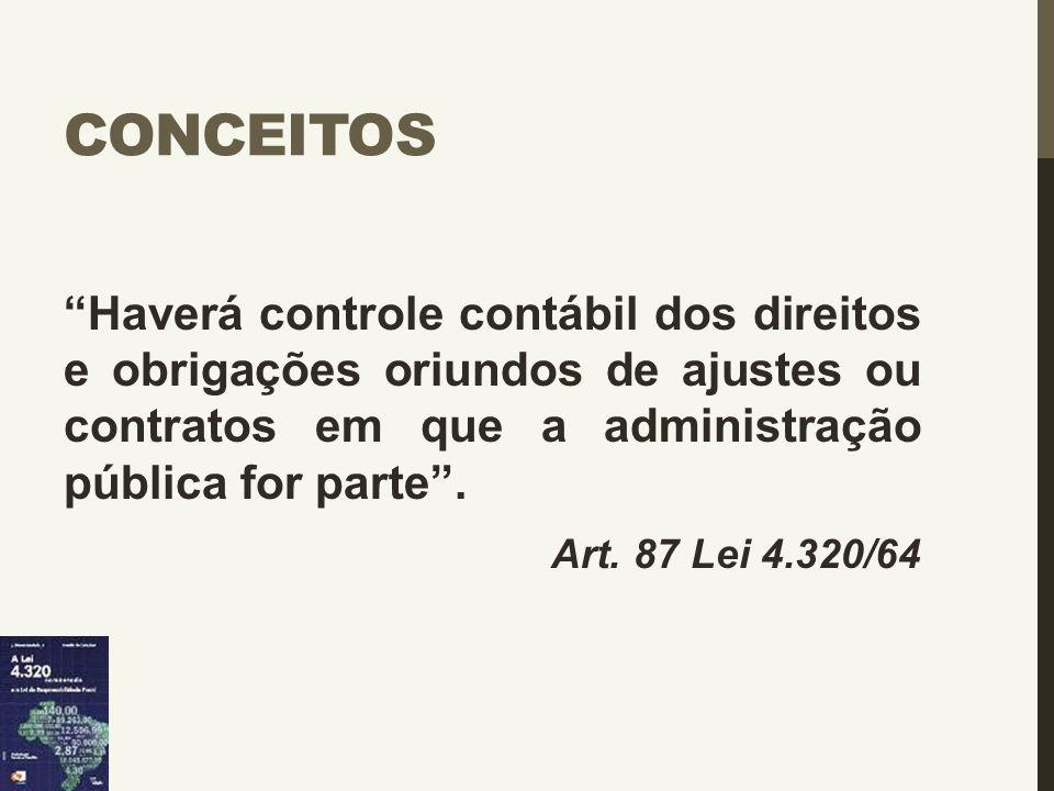 Conceitos Haverá controle contábil dos direitos e obrigações oriundos de ajustes ou contratos em que a administração pública for parte .