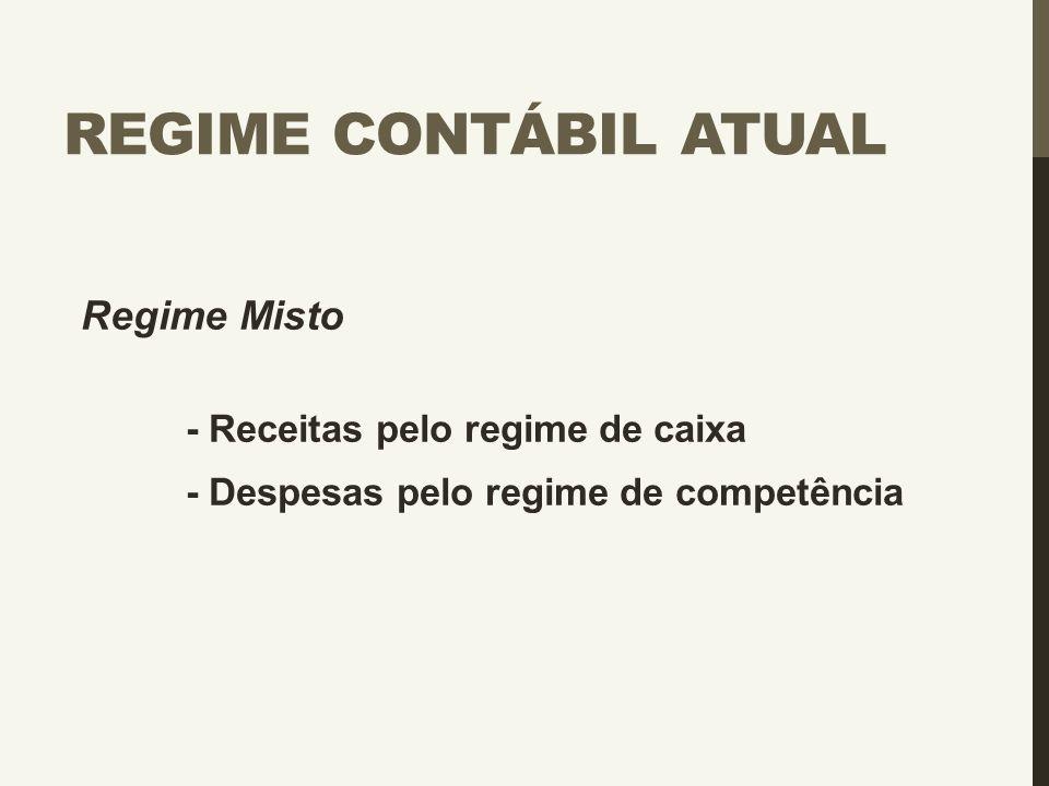 Regime Contábil Atual Regime Misto