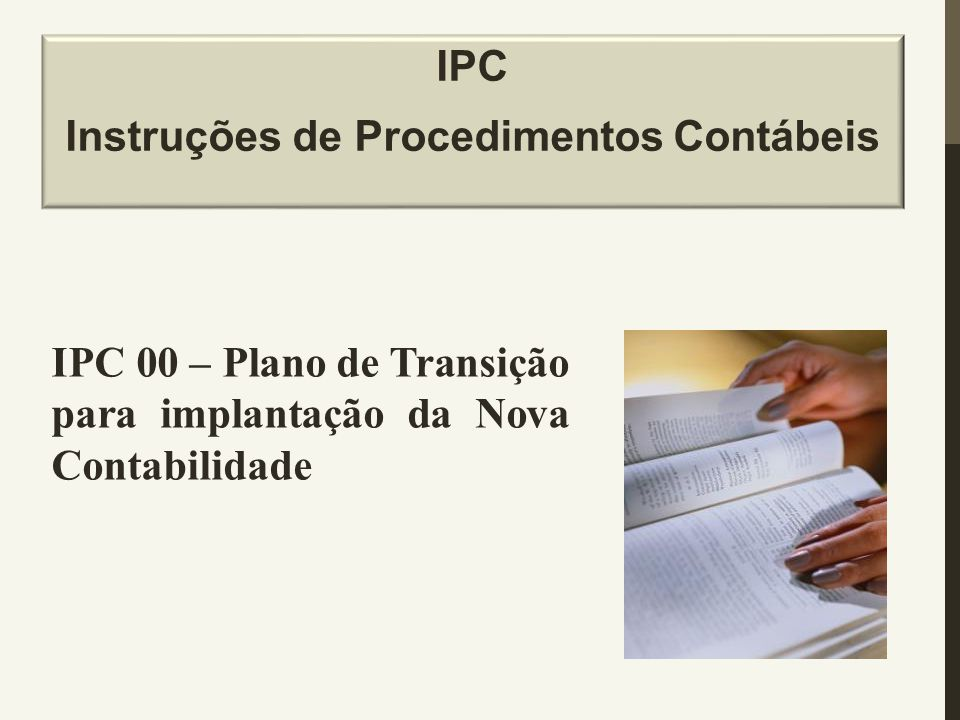IPC Instruções de Procedimentos Contábeis
