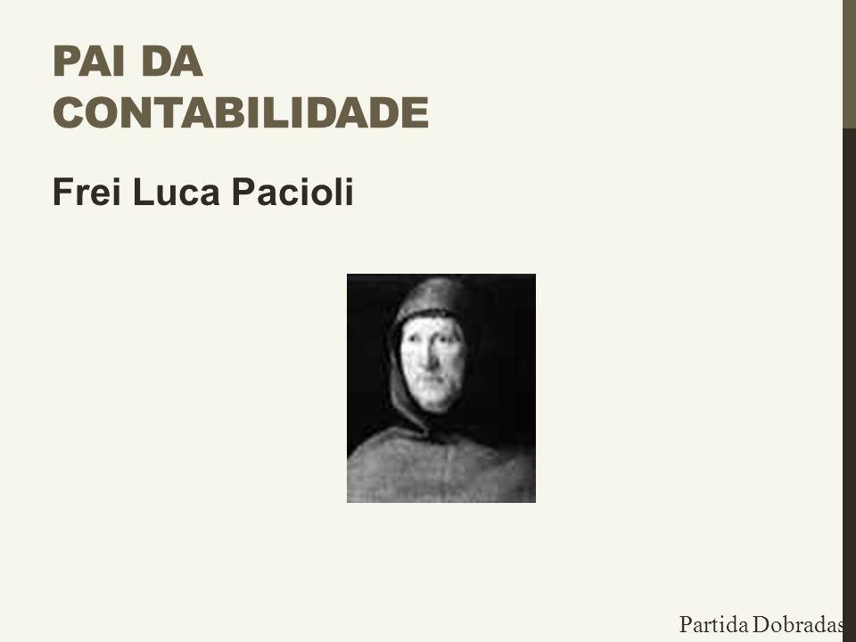 Pai da Contabilidade Frei Luca Pacioli Partida Dobradas