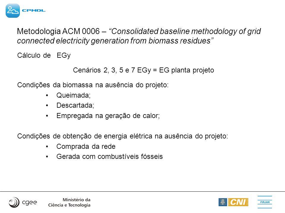 Cenários 2, 3, 5 e 7 EGy = EG planta projeto