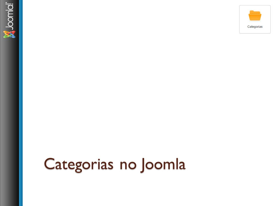 Categorias no Joomla