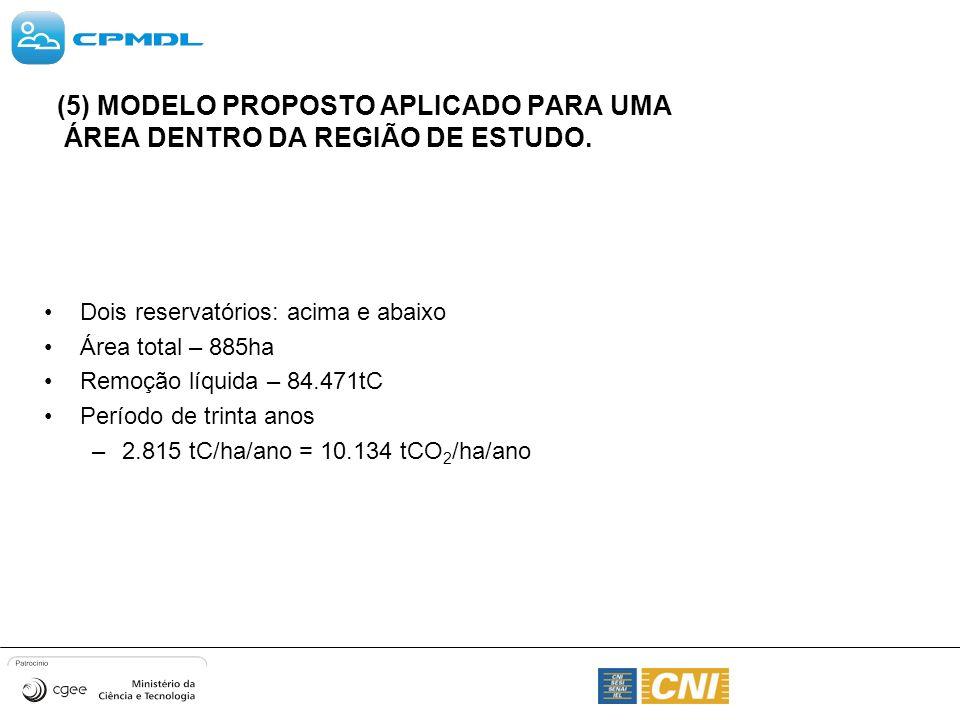 (5) MODELO PROPOSTO APLICADO PARA UMA ÁREA DENTRO DA REGIÃO DE ESTUDO.