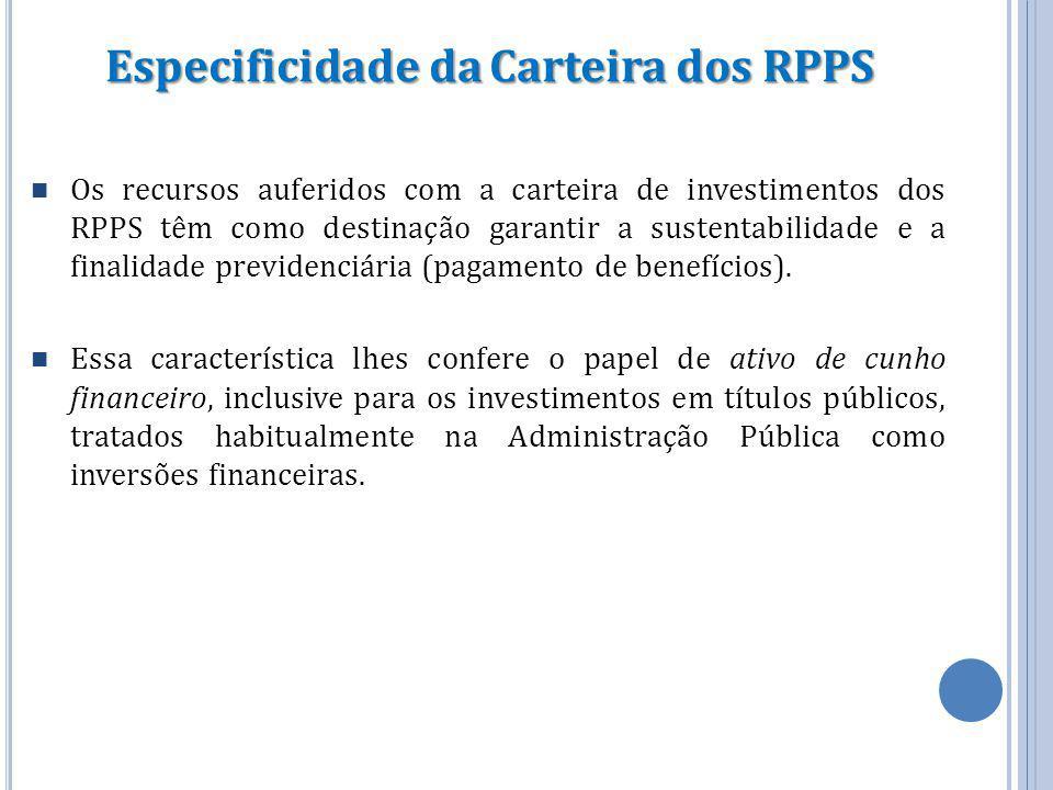 Especificidade da Carteira dos RPPS