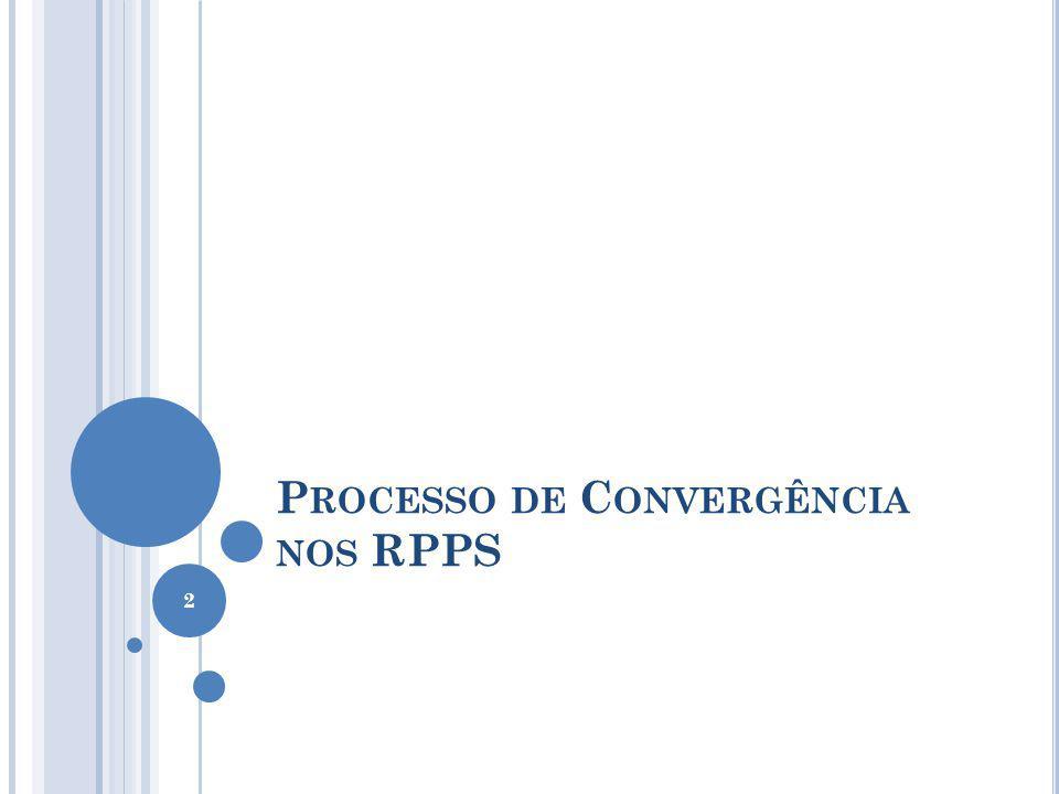 Processo de Convergência nos RPPS