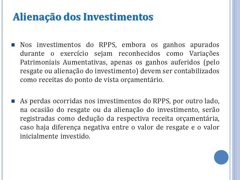 Alienação dos Investimentos