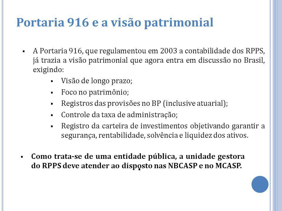 Portaria 916 e a visão patrimonial