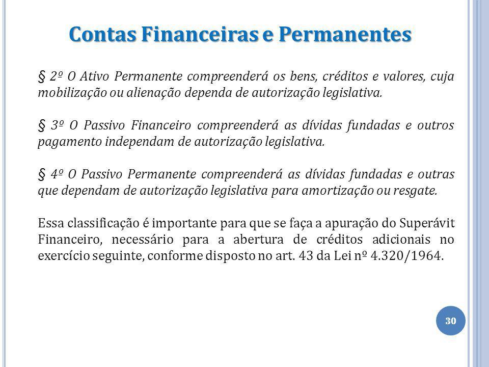 Contas Financeiras e Permanentes