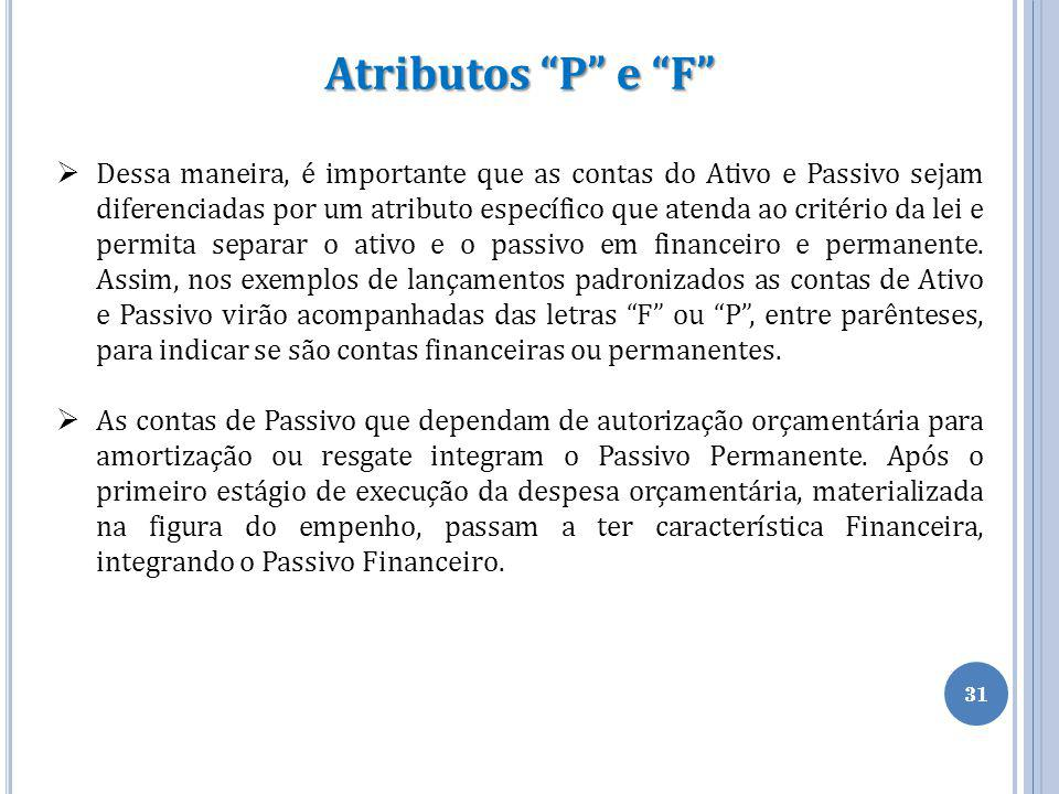 Atributos P e F