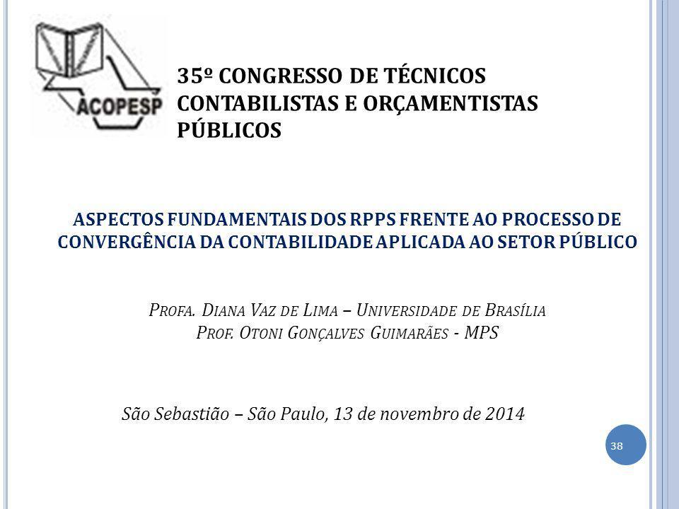 35º CONGRESSO DE TÉCNICOS CONTABILISTAS E ORÇAMENTISTAS PÚBLICOS